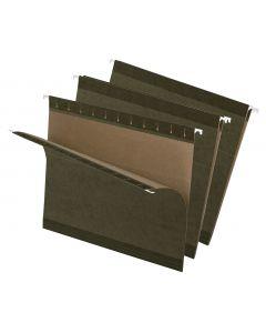 Premium Reinforced Hanging Folder, Letter, Standard Green, 25/Box