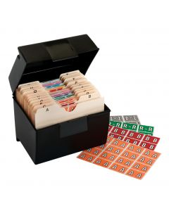 A-Z End Tab Filing Labels - Starter Kit, Assorted