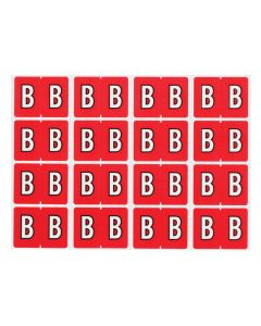 A-Z End Tab Filing Labels - B/Red
