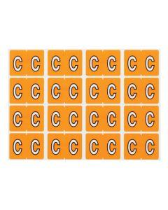 A-Z End Tab Filing Labels - C/Lt Orange
