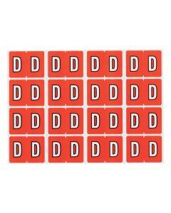 A-Z End Tab Filing Labels - D/Dk Orange