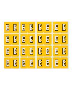 A-Z End Tab Filing Labels - E/Yellow