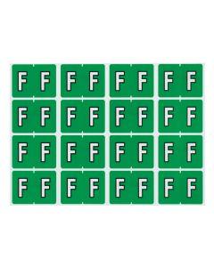 A-Z End Tab Filing Labels - F/Lt. Green