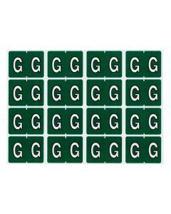 A-Z End Tab Filing Labels - G/Dk. Green