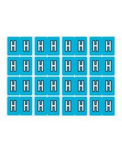 A-Z End Tab Filing Labels - H/Lt. Blue