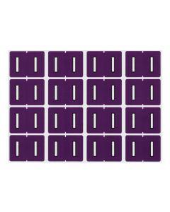 A-Z End Tab Filing Labels - I/Purple
