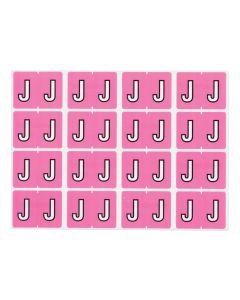 A-Z End Tab Filing Labels - J/Lilac