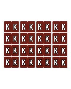 A-Z End Tab Filing Labels - K/Brown