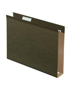 "Pendaflex® Extra Capacity Reinforced Hanging Folders, 2"", Letter Size, Standard green, 1/5 Cut, 25/BX"