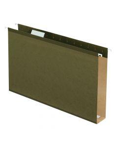 "Pendaflex® Extra Capacity Reinforced Hanging Folders, 2"", Legal Size, Standard Green, 1/5 Cut, 25/BX"