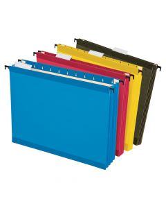 Pendaflex® SureHook® Reinforced Extra Capacity Hanging Pockets, Letter Size, Assorted Colors, 4/PK