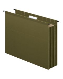 Pendaflex® SureHook® Reinforced Extra Capacity Hanging Pockets, Letter Size, Standard Green, 4/PK
