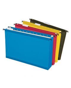 Pendaflex® SureHook® Reinforced Extra Capacity Hanging Pockets, Legal Size, Assorted Colors, 4/PK