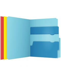 Pendaflex® Divide It Up™ File Folders, Letter Size, Assorted Colors, 24/Pack