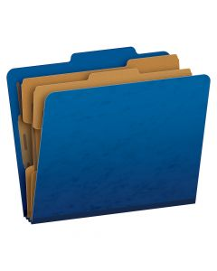 Pendaflex® Moisture-Resistant Color Classification Folders, Letter Size, 6 Section, Blue, 2/5 Cut, 10/BX