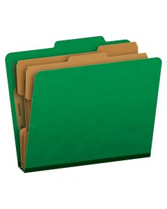 Pendaflex® Moisture-Resistant Color Classification Folders, Letter Size, 6 Section, Green, 2/5 Cut, 10/BX