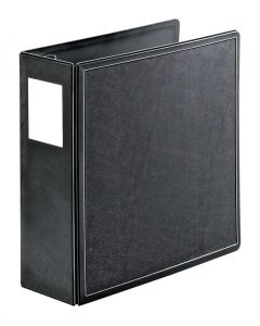 "SuperLife™ Easy Open® Locking Slant-D® Ring Binder, 4"", Black"
