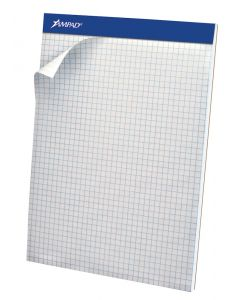 Ampad®  Perforated Pads, Quad Rule, Micro Perf, 50 sheets per pad, Letter, White