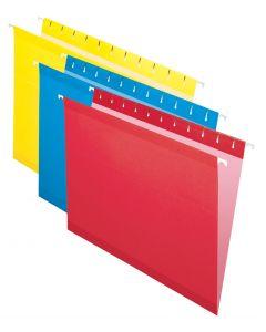 Premium Reinforced Hanging Folder, Letter, Assorted, 20/Box