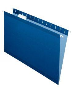 Premium Reinforced Hanging Folder, Legal, Navy Blue, 20/Box