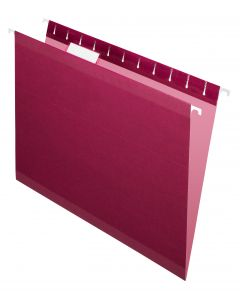 Premium Reinforced Hanging Folder, Letter, Burgundy, 20/Box