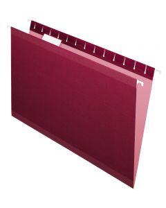 Premium Reinforced Hanging Folder, Legal, Burgundy, 20/Box