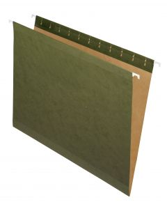 Premium Reinforced Hanging Folder, Letter, Standard Green, 20/Box