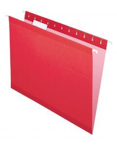 Premium Reinforced Hanging Folder, Letter, Red, 20/Box