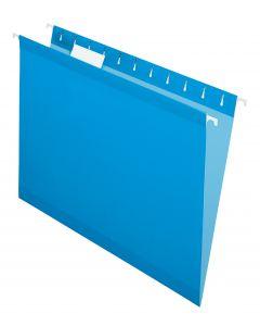 Premium Reinforced Hanging Folder, Letter, Blue, 20/Box