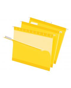 Premium Reinforced Hanging Folder, Letter, Yellow, 20/Box