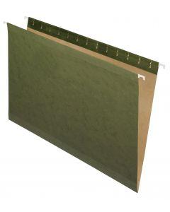 Premium Reinforced Hanging Folder, Legal, Standard Green, 20/Box