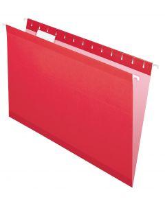 Premium Reinforced Hanging Folder, Legal, Red, 20/Box