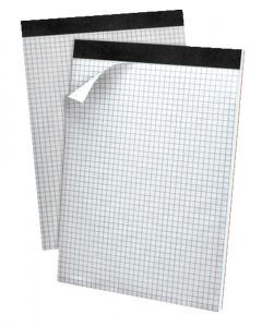 Ampad® Gold Fibre™ Perforated Writing Pads, Micro-Perf, Quad Rule, 80 Shts per pad, Letter, White