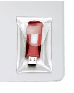 HOLD IT® USB Pockets, 6/BG,Clear