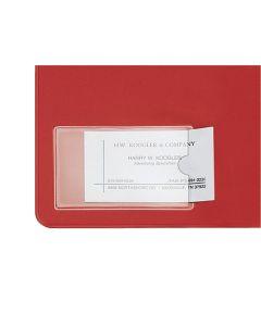 "HOLD IT® Business Card Pocket, Side Open, 3-3/4"" x 2-3/8"", 10/BG"