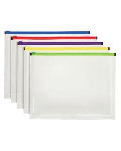 Pendaflex® Poly Zip Envelope, 5 Pack, Letter Size, Assorted