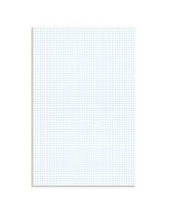 "Ampad® Graph Pad, 11"" x 17"", Glue Top, Graph Rule (4 x 4), 50 Sheets"