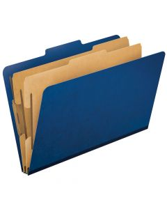 Pendaflex® Press Guard® Top-Tab Classification Folders, 2/5 Cut, Legal Size, Blue, 10 Per Box