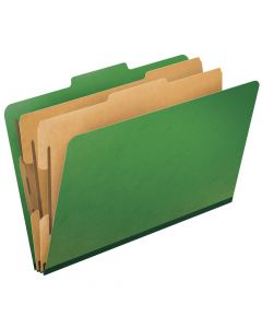 Pendaflex® Press Guard® Top-Tab Classification Folders, 2/5 Cut, Legal Size, Green, 10 Per Box
