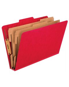 Color Press Guard® Classification Folders, Legal size, Scarlet