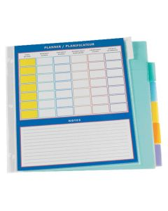 Oxford® Poly Insertable Tab Dividers with Schedule - 6 Tabs, Letter-Size, Assorted, 6/ST
