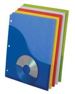 Wave Pocket Project Folder, Letter, Assorted