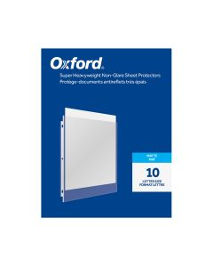 Oxford® Super Heavyweight Non-Glare Sheet Protectors, Matte Finish, Letter Size, Reinforced 3 Hole Punch, 10 Pack