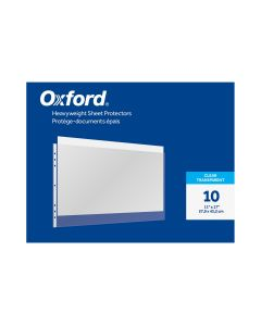 Oxford® Heavyweight Sheet Protectors, 11 x 17, Clear Finish, Reinforced 7 hole Punch, 10 per Pack