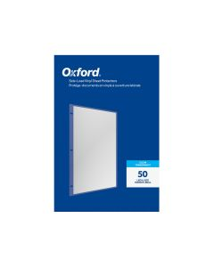 Oxford® Side-Load Vinyl Sheet Protectors, Clear Finish, Legal Size, Reinforced 3 Hole Punch, 50 per Box