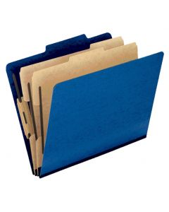Colour Press Guard® Classification Folder, Letter, 2/5 Cut Tabs, Blue, 2pk