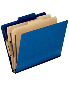 Colour Press Guard® Classification Folder, Legal, 2/5 Cut Tabs, Blue, 2pk