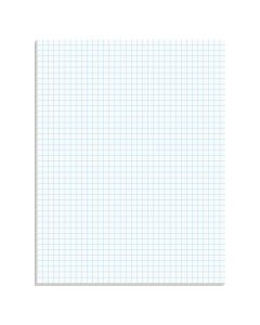 "TOPS™ Graph Pads, 8-1/2"" x 11"", Glue Top, Graph Rule (4 x 4), 50 Sheets"