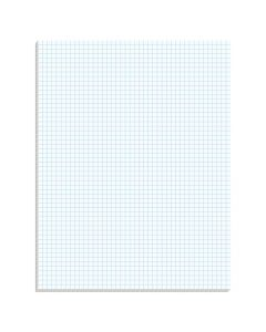 "TOPS™ Graph Pads, 8-1/2"" x 11"", Glue Top, Graph Rule (5 x 5), 50 Sheets"