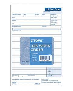 "Job Work Order, 5-1/2"" x 9-1/8"", 3-Part Carbonless, White/Canary/White, 50 ST/PK"